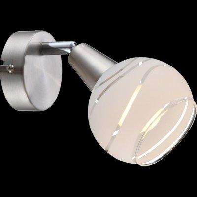 Светильник поворотный спот Globo 54341-1o ELLIOTTОдиночные<br><br><br>Тип товара: Светильник поворотный спот<br>Скидка, %: 21<br>Тип цоколя: E14<br>Количество ламп: 1<br>MAX мощность ламп, Вт: 40<br>Цвет арматуры: серебристый никель