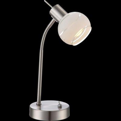Настольная лампа Globo 54341-1to ELLIOTTСовременные<br>Настольная лампа – это не просто источник дополнительного освещения, но и оригинальный элемент декора. Его можно установить в спальне, гостиной, кабинете и других комнатах. Интернет-магазин «Светодом» предлагает настольные лампы разных стилей по доступным ценам. Благодаря большому ассортименту Вы обязательно найдете в нашем каталоге именно ту модель, которую искали.   Настольная лампа Globo 54341-1TO – прекрасный вариант для завершения интерьера. Ее можно включить одновременно с люстрой для более яркого освещения или без нее для создания уютной атмосферы, настраивающей на отдых.   Купить настольную лампу Globo 54341-1TO Вы можете с помощью виртуальной «Корзины» или по контактным номерам, указанным на сайте.<br><br>Тип цоколя: E14<br>Цвет арматуры: серебристый<br>Количество ламп: 1<br>MAX мощность ламп, Вт: 40