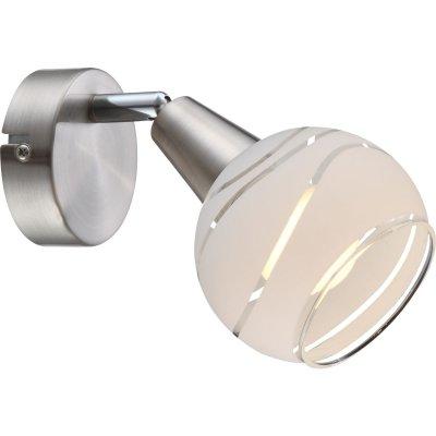 Светильник спот Globo 54341-1 ElliottОдиночные<br>Светильники-споты – это оригинальные изделия с современным дизайном. Они позволяют не ограничивать свою фантазию при выборе освещения для интерьера. Такие модели обеспечивают достаточно качественный свет. Благодаря компактным размерам Вы можете использовать несколько спотов для одного помещения. <br>Интернет-магазин «Светодом» предлагает необычный светильник-спот Globo 54341-1 по привлекательной цене. Эта модель станет отличным дополнением к люстре, выполненной в том же стиле. Перед оформлением заказа изучите характеристики изделия. <br>Купить светильник-спот Globo 54341-1 в нашем онлайн-магазине Вы можете либо с помощью формы на сайте, либо по указанным выше телефонам. Обратите внимание, что у нас склады не только в Москве и Екатеринбурге, но и других городах России.<br><br>S освещ. до, м2: 2<br>Тип лампы: накал-я - энергосбер-я<br>Тип цоколя: E14<br>Количество ламп: 1<br>Ширина, мм: 97<br>MAX мощность ламп, Вт: 4<br>Длина, мм: 150<br>Высота, мм: 97<br>Цвет арматуры: серебристый