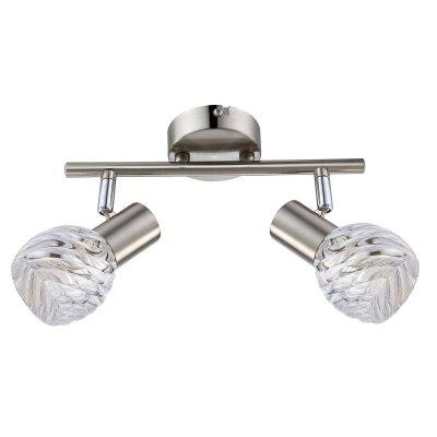 Светильник поворотный спот Globo 54344-2o BORONIAДвойные<br>Светильники-споты – это оригинальные изделия с современным дизайном. Они позволяют не ограничивать свою фантазию при выборе освещения для интерьера. Такие модели обеспечивают достаточно качественный свет. Благодаря компактным размерам Вы можете использовать несколько спотов для одного помещения.  Интернет-магазин «Светодом» предлагает необычный светильник-спот Globo 54344-2O по привлекательной цене. Эта модель станет отличным дополнением к люстре, выполненной в том же стиле. Перед оформлением заказа изучите характеристики изделия.  Купить светильник-спот Globo 54344-2O в нашем онлайн-магазине Вы можете либо с помощью формы на сайте, либо по указанным выше телефонам. Обратите внимание, что у нас склады не только в Москве и Екатеринбурге, но и других городах России.<br><br>S освещ. до, м2: 4<br>Тип лампы: Накаливания / энергосбережения / светодиодная<br>Тип цоколя: E14<br>Цвет арматуры: серебристый<br>Количество ламп: 2<br>Ширина, мм: 250<br>Длина, мм: 80<br>Высота, мм: 80<br>MAX мощность ламп, Вт: 40