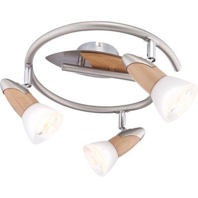 Люстра Globo 5441-3 Lord IIПоворотные<br><br><br>Установка на натяжной потолок: Ограничено<br>S освещ. до, м2: 8<br>Крепление: Планка<br>Тип товара: Светильник поворотный спот<br>Скидка, %: 21<br>Тип лампы: накаливания / энергосбережения / LED-светодиодная<br>Тип цоколя: E14 R50<br>Количество ламп: 3<br>Ширина, мм: 175<br>MAX мощность ламп, Вт: 40<br>Диаметр, мм мм: 300<br>Высота, мм: 175<br>Цвет арматуры: серый