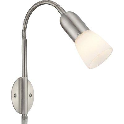 Светильник гибкий Globo 5453-1W CathyОдиночные<br><br><br>S освещ. до, м2: 2<br>Тип товара: Светильник поворотный спот<br>Скидка, %: 40<br>Тип лампы: накаливания / энергосбережения / LED-светодиодная<br>Тип цоколя: E14<br>Количество ламп: 1<br>Ширина, мм: 230<br>MAX мощность ламп, Вт: 40<br>Расстояние от стены, мм: 200<br>Высота, мм: 290<br>Цвет арматуры: серый