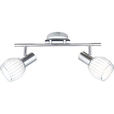 Светильник Globo 54531-2 Colubrisдвойные светильники споты<br>Светильники-споты – это оригинальные изделия с современным дизайном. Они позволяют не ограничивать свою фантазию при выборе освещения для интерьера. Такие модели обеспечивают достаточно качественный свет. Благодаря компактным размерам Вы можете использовать несколько спотов для одного помещения.  Интернет-магазин «Светодом» предлагает необычный светильник-спот Globo 54531-2 по привлекательной цене. Эта модель станет отличным дополнением к люстре, выполненной в том же стиле. Перед оформлением заказа изучите характеристики изделия.  Купить светильник-спот Globo 54531-2 в нашем онлайн-магазине Вы можете либо с помощью формы на сайте, либо по указанным выше телефонам. Обратите внимание, что у нас склады не только в Москве и Екатеринбурге, но и других городах России.<br><br>S освещ. до, м2: 5<br>Тип лампы: накал-я - энергосбер-я<br>Тип цоколя: E14<br>Цвет арматуры: серебристый<br>Количество ламп: 2<br>Ширина, мм: 80<br>Диаметр, мм мм: 110<br>Длина, мм: 360<br>Расстояние от стены, мм: 150<br>Высота, мм: 150<br>Оттенок (цвет): белый<br>MAX мощность ламп, Вт: 40