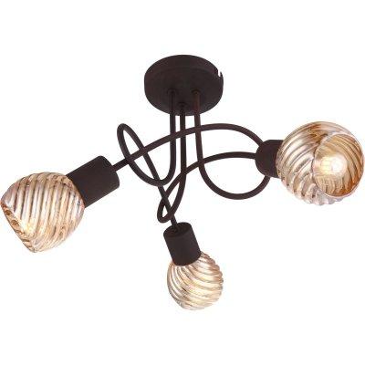 Светильник Globo 54644-3doПотолочные<br><br><br>Установка на натяжной потолок: Ограничено<br>S освещ. до, м2: 6<br>Крепление: Планка<br>Тип товара: Светильник поворотный спот<br>Скидка, %: 21<br>Тип цоколя: E14<br>Количество ламп: 3<br>MAX мощность ламп, Вт: 40<br>Диаметр, мм мм: 350<br>Высота, мм: 245<br>Цвет арматуры: коричневый