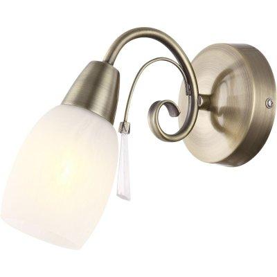 Светильник Globo 54645-1Wсовременные бра модерн<br><br><br>Тип цоколя: E14<br>Цвет арматуры: бронзовый<br>Количество ламп: 1<br>Ширина, мм: 220<br>Длина, мм: 100<br>Высота, мм: 180<br>MAX мощность ламп, Вт: 40