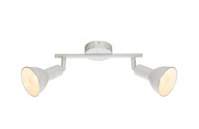 Спот Globo 54648-2 CALDERAОжидается<br><br><br>Тип цоколя: E14<br>Цвет арматуры: белое золотой<br>Количество ламп: 2<br>Ширина, мм: 250<br>Высота, мм: 185<br>MAX мощность ламп, Вт: 80