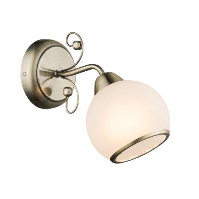 Светильник настенный бра Globo 54713wМодерн<br><br><br>Тип товара: Светильник настенный<br>Тип лампы: Накаливания / энергосбережения / светодиодная<br>Тип цоколя: E14<br>Количество ламп: 1<br>Ширина, мм: 130<br>MAX мощность ламп, Вт: 40<br>Высота, мм: 230<br>Цвет арматуры: бронзовый