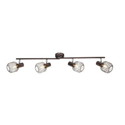 Светильник поворотный спот Globo 54801-4 AKINС 4 лампами<br>Светильники-споты – это оригинальные изделия с современным дизайном. Они позволяют не ограничивать свою фантазию при выборе освещения для интерьера. Такие модели обеспечивают достаточно качественный свет. Благодаря компактным размерам Вы можете использовать несколько спотов для одного помещения.  Интернет-магазин «Светодом» предлагает необычный светильник-спот Globo 54801-4 по привлекательной цене. Эта модель станет отличным дополнением к люстре, выполненной в том же стиле. Перед оформлением заказа изучите характеристики изделия.  Купить светильник-спот Globo 54801-4 в нашем онлайн-магазине Вы можете либо с помощью формы на сайте, либо по указанным выше телефонам. Обратите внимание, что мы предлагаем доставку не только по Москве и Екатеринбургу, но и всем остальным российским городам.<br><br>Тип цоколя: E14<br>Количество ламп: 4<br>Ширина, мм: 840<br>MAX мощность ламп, Вт: 40<br>Высота, мм: 150<br>Цвет арматуры: коричневый