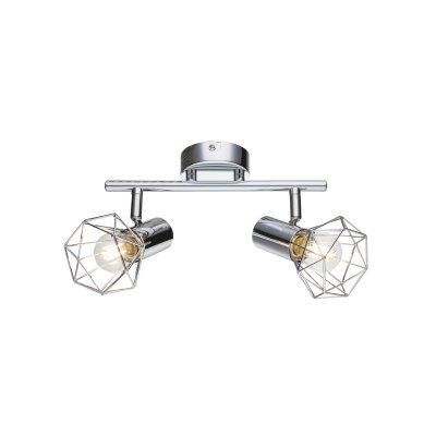 Светильник поворотный спот Globo 54802-2Двойные<br>Светильники-споты – это оригинальные изделия с современным дизайном. Они позволяют не ограничивать свою фантазию при выборе освещения для интерьера. Такие модели обеспечивают достаточно качественный свет. Благодаря компактным размерам Вы можете использовать несколько спотов для одного помещения.  Интернет-магазин «Светодом» предлагает необычный светильник-спот Globo 54802-2 по привлекательной цене. Эта модель станет отличным дополнением к люстре, выполненной в том же стиле. Перед оформлением заказа изучите характеристики изделия.  Купить светильник-спот Globo 54802-2 в нашем онлайн-магазине Вы можете либо с помощью формы на сайте, либо по указанным выше телефонам. Обратите внимание, что у нас склады не только в Москве и Екатеринбурге, но и других городах России.<br><br>S освещ. до, м2: 4<br>Тип цоколя: E14<br>Цвет арматуры: серебристый<br>Количество ламп: 2<br>Ширина, мм: 255<br>Высота, мм: 150<br>MAX мощность ламп, Вт: 40
