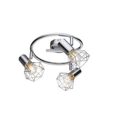 Светильник поворотный спот Globo 54802-3тройные споты<br>Светильники-споты – это оригинальные изделия с современным дизайном. Они позволяют не ограничивать свою фантазию при выборе освещения для интерьера. Такие модели обеспечивают достаточно качественный свет. Благодаря компактным размерам Вы можете использовать несколько спотов для одного помещения.  Интернет-магазин «Светодом» предлагает необычный светильник-спот Globo 54802-3 по привлекательной цене. Эта модель станет отличным дополнением к люстре, выполненной в том же стиле. Перед оформлением заказа изучите характеристики изделия.  Купить светильник-спот Globo 54802-3 в нашем онлайн-магазине Вы можете либо с помощью формы на сайте, либо по указанным выше телефонам. Обратите внимание, что у нас склады не только в Москве и Екатеринбурге, но и других городах России.<br><br>S освещ. до, м2: 6<br>Тип цоколя: E14<br>Цвет арматуры: серебристый<br>Количество ламп: 3<br>Диаметр, мм мм: 430<br>Высота, мм: 150<br>MAX мощность ламп, Вт: 40