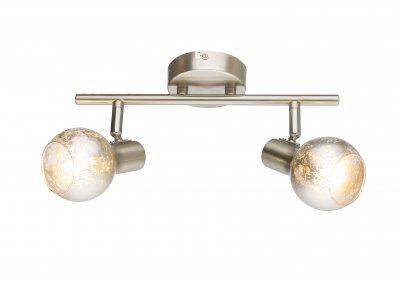 Спот Globo 54840-2 ZACATEОжидается<br><br><br>Тип цоколя: E14<br>Цвет арматуры: серебристый никель<br>Количество ламп: 2<br>Ширина, мм: 300<br>Высота, мм: 155<br>MAX мощность ламп, Вт: 50