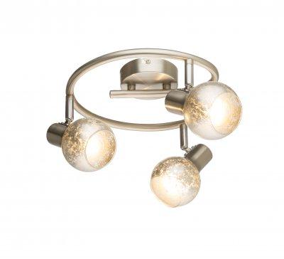 Спот Globo 54840-3 ZACATEОжидается<br><br><br>Тип цоколя: E14<br>Цвет арматуры: серебристый никель<br>Количество ламп: 3<br>Диаметр, мм мм: 250<br>Высота, мм: 155<br>MAX мощность ламп, Вт: 75