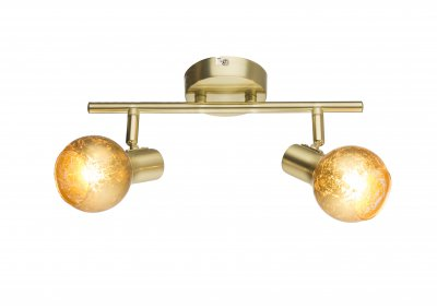 Спот Globo 54841-2 TIGREОжидается<br><br><br>Тип цоколя: E14<br>Цвет арматуры: бронзовый<br>Количество ламп: 2<br>Ширина, мм: 300<br>Высота, мм: 155<br>MAX мощность ламп, Вт: 50
