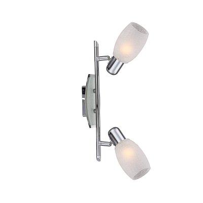 Светильник спот Globo 54917-2 CycloneДвойные<br>Светильники-споты – это оригинальные изделия с современным дизайном. Они позволяют не ограничивать свою фантазию при выборе освещения для интерьера. Такие модели обеспечивают достаточно качественный свет. Благодаря компактным размерам Вы можете использовать несколько спотов для одного помещения.  Интернет-магазин «Светодом» предлагает необычный светильник-спот Globo 54917-2 по привлекательной цене. Эта модель станет отличным дополнением к люстре, выполненной в том же стиле. Перед оформлением заказа изучите характеристики изделия.  Купить светильник-спот Globo 54917-2 в нашем онлайн-магазине Вы можете либо с помощью формы на сайте, либо по указанным выше телефонам. Обратите внимание, что у нас склады не только в Москве и Екатеринбурге, но и других городах России.<br><br>S освещ. до, м2: 1<br>Тип лампы: накал-я - энергосбер-я<br>Тип цоколя: E14<br>Количество ламп: 2<br>MAX мощность ламп, Вт: 40<br>Длина, мм: 350<br>Высота, мм: 150<br>Цвет арматуры: серебристый