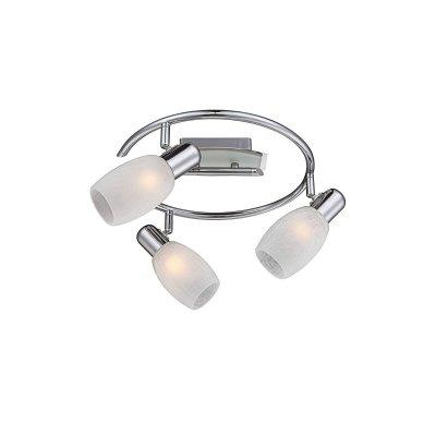 Люстра Globo 54917-3 CycloneТройные<br>Светильники-споты – это оригинальные изделия с современным дизайном. Они позволяют не ограничивать свою фантазию при выборе освещения для интерьера. Такие модели обеспечивают достаточно качественный свет. Благодаря компактным размерам Вы можете использовать несколько спотов для одного помещения.  Интернет-магазин «Светодом» предлагает необычный светильник-спот Globo 54917-3 по привлекательной цене. Эта модель станет отличным дополнением к люстре, выполненной в том же стиле. Перед оформлением заказа изучите характеристики изделия.  Купить светильник-спот Globo 54917-3 в нашем онлайн-магазине Вы можете либо с помощью формы на сайте, либо по указанным выше телефонам. Обратите внимание, что у нас склады не только в Москве и Екатеринбурге, но и других городах России.<br><br>S освещ. до, м2: 12<br>Тип лампы: накаливания / энергосбережения / LED-светодиодная<br>Тип цоколя: E14<br>Цвет арматуры: серебристый<br>Количество ламп: 3<br>Диаметр, мм мм: 300<br>Высота, мм: 150<br>MAX мощность ламп, Вт: 40