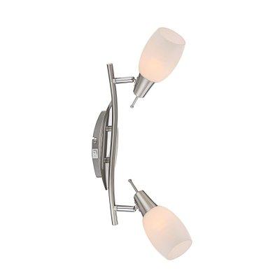 Светильник Globo 54983-2 Gilianдвойные светильники споты<br>Светильники-споты – это оригинальные изделия с современным дизайном. Они позволяют не ограничивать свою фантазию при выборе освещения для интерьера. Такие модели обеспечивают достаточно качественный свет. Благодаря компактным размерам Вы можете использовать несколько спотов для одного помещения.  Интернет-магазин «Светодом» предлагает необычный светильник-спот Globo 54983-2 по привлекательной цене. Эта модель станет отличным дополнением к люстре, выполненной в том же стиле. Перед оформлением заказа изучите характеристики изделия.  Купить светильник-спот Globo 54983-2 в нашем онлайн-магазине Вы можете либо с помощью формы на сайте, либо по указанным выше телефонам. Обратите внимание, что у нас склады не только в Москве и Екатеринбурге, но и других городах России.<br><br>S освещ. до, м2: 1<br>Тип лампы: накал-я - энергосбер-я<br>Тип цоколя: E14<br>Цвет арматуры: серебристый<br>Количество ламп: 2<br>Длина, мм: 350<br>Высота, мм: 175<br>MAX мощность ламп, Вт: 40