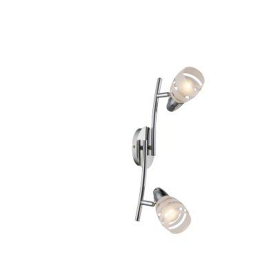 Светильник поворотный спот Globo 54985-2Двойные<br>Светильники-споты – это оригинальные изделия с современным дизайном. Они позволяют не ограничивать свою фантазию при выборе освещения для интерьера. Такие модели обеспечивают достаточно качественный свет. Благодаря компактным размерам Вы можете использовать несколько спотов для одного помещения.  Интернет-магазин «Светодом» предлагает необычный светильник-спот Globo 54985-2 по привлекательной цене. Эта модель станет отличным дополнением к люстре, выполненной в том же стиле. Перед оформлением заказа изучите характеристики изделия.  Купить светильник-спот Globo 54985-2 в нашем онлайн-магазине Вы можете либо с помощью формы на сайте, либо по указанным выше телефонам. Обратите внимание, что у нас склады не только в Москве и Екатеринбурге, но и других городах России.<br><br>S освещ. до, м2: 4<br>Тип цоколя: E14<br>Цвет арматуры: серебристый<br>Количество ламп: 2<br>MAX мощность ламп, Вт: 40