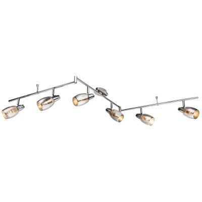 Светильник поворотный спот Globo 54986-6 CARSONБолее 5 ламп<br>Светильники-споты – это оригинальные изделия с современным дизайном. Они позволяют не ограничивать свою фантазию при выборе освещения для интерьера. Такие модели обеспечивают достаточно качественный свет. Благодаря компактным размерам Вы можете использовать несколько спотов для одного помещения.  Интернет-магазин «Светодом» предлагает необычный светильник-спот Globo 54986-6 по привлекательной цене. Эта модель станет отличным дополнением к люстре, выполненной в том же стиле. Перед оформлением заказа изучите характеристики изделия.  Купить светильник-спот Globo 54986-6 в нашем онлайн-магазине Вы можете либо с помощью формы на сайте, либо по указанным выше телефонам. Обратите внимание, что у нас склады не только в Москве и Екатеринбурге, но и других городах России.<br><br>S освещ. до, м2: 12<br>Тип цоколя: E14<br>Цвет арматуры: серебристый хром<br>Количество ламп: 6<br>MAX мощность ламп, Вт: 40