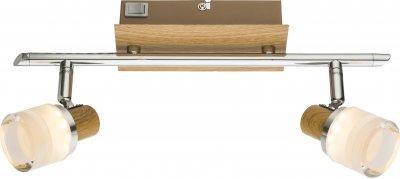 Спот Globo 56000-2Двойные<br><br><br>S освещ. до, м2: 4<br>Тип лампы: LED<br>Тип цоколя: LED<br>Цвет арматуры: коричневый<br>Глубина, мм: 145<br>Высота, мм: 80