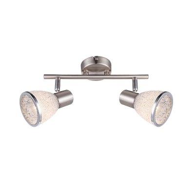 Светильник Globo 56041-2 RachelДвойные<br>Светильники-споты – это оригинальные изделия с современным дизайном. Они позволяют не ограничивать свою фантазию при выборе освещения для интерьера. Такие модели обеспечивают достаточно качественный свет. Благодаря компактным размерам Вы можете использовать несколько спотов для одного помещения.  Интернет-магазин «Светодом» предлагает необычный светильник-спот Globo 56041-2 по привлекательной цене. Эта модель станет отличным дополнением к люстре, выполненной в том же стиле. Перед оформлением заказа изучите характеристики изделия.  Купить светильник-спот Globo 56041-2 в нашем онлайн-магазине Вы можете либо с помощью формы на сайте, либо по указанным выше телефонам. Обратите внимание, что у нас склады не только в Москве и Екатеринбурге, но и других городах России.<br><br>S освещ. до, м2: 4<br>Цветовая t, К: 2400-2800<br>Тип лампы: накаливания / энергосберегающая / светодиодная<br>Тип цоколя: E14 LED<br>Цвет арматуры: серебристый<br>Количество ламп: 2<br>Ширина, мм: 276<br>Длина, мм: 280<br>Высота, мм: 145<br>Поверхность арматуры: матовый, глянцевый<br>MAX мощность ламп, Вт: 4<br>Общая мощность, Вт: 8