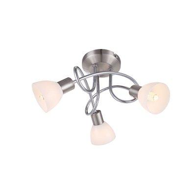 Светильник Globo 56042-3DПотолочные<br><br><br>Тип товара: Светильник поворотный спот<br>Тип цоколя: G9 LED<br>Количество ламп: 3<br>MAX мощность ламп, Вт: 3<br>Диаметр, мм мм: 310<br>Высота, мм: 160<br>Цвет арматуры: серебристый