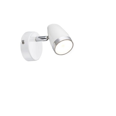 Светильник поворотный спот Globo 56109-1 MINOUОдиночные<br><br><br>Тип товара: Светильник поворотный спот<br>Скидка, %: 21<br>Тип цоколя: LED<br>Количество ламп: 1<br>Ширина, мм: 80<br>MAX мощность ламп, Вт: 4<br>Высота, мм: 135<br>Цвет арматуры: белый