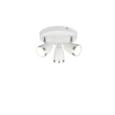 Светильник поворотный спот Globo 56109-3 MINOUТройные<br><br><br>Тип товара: Светильник поворотный спот<br>Скидка, %: 21<br>Тип цоколя: LED<br>Количество ламп: 3<br>MAX мощность ламп, Вт: 4<br>Диаметр, мм мм: 190<br>Высота, мм: 135<br>Цвет арматуры: белый