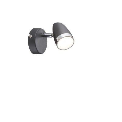 Светильник поворотный спот Globo 56110-1 NEROОдиночные<br><br><br>Тип товара: Светильник поворотный спот<br>Скидка, %: 21<br>Тип цоколя: LED<br>Количество ламп: 1<br>Ширина, мм: 80<br>MAX мощность ламп, Вт: 4<br>Высота, мм: 135<br>Цвет арматуры: черный