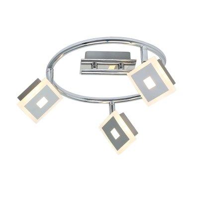 Светильник поворотный спот Globo 56111-3 GEROLFтройные споты<br>Светильники-споты – это оригинальные изделия с современным дизайном. Они позволяют не ограничивать свою фантазию при выборе освещения для интерьера. Такие модели обеспечивают достаточно качественный свет. Благодаря компактным размерам Вы можете использовать несколько спотов для одного помещения.  Интернет-магазин «Светодом» предлагает необычный светильник-спот Globo 56111-3 по привлекательной цене. Эта модель станет отличным дополнением к люстре, выполненной в том же стиле. Перед оформлением заказа изучите характеристики изделия.  Купить светильник-спот Globo 56111-3 в нашем онлайн-магазине Вы можете либо с помощью формы на сайте, либо по указанным выше телефонам. Обратите внимание, что у нас склады не только в Москве и Екатеринбурге, но и других городах России.<br><br>S освещ. до, м2: 6<br>Тип цоколя: LED<br>Цвет арматуры: серебристый хром<br>Количество ламп: 3<br>MAX мощность ламп, Вт: 5