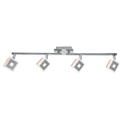 Светильник поворотный спот Globo 56111-4 GEROLFОжидается<br><br><br>Тип цоколя: LED<br>Цвет арматуры: хром<br>Количество ламп: 4<br>MAX мощность ламп, Вт: 5