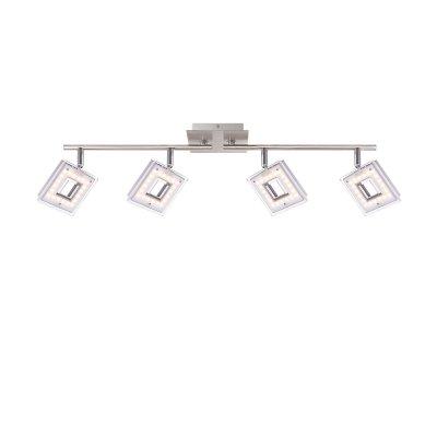 Светильник Globo 56138-4споты 4 лампы<br>Светильники-споты – это оригинальные изделия с современным дизайном. Они позволяют не ограничивать свою фантазию при выборе освещения для интерьера. Такие модели обеспечивают достаточно качественный свет. Благодаря компактным размерам Вы можете использовать несколько спотов для одного помещения.  Интернет-магазин «Светодом» предлагает необычный светильник-спот Globo 56138-4 по привлекательной цене. Эта модель станет отличным дополнением к люстре, выполненной в том же стиле. Перед оформлением заказа изучите характеристики изделия.  Купить светильник-спот Globo 56138-4 в нашем онлайн-магазине Вы можете либо с помощью формы на сайте, либо по указанным выше телефонам. Обратите внимание, что у нас склады не только в Москве и Екатеринбурге, но и других городах России.<br><br>S освещ. до, м2: 7<br>Тип цоколя: LED<br>Цвет арматуры: серебристый<br>Количество ламп: 4<br>Ширина, мм: 690<br>Длина, мм: 176<br>Высота, мм: 176<br>MAX мощность ламп, Вт: 4,2
