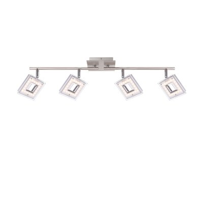 Светильник Globo 56138-4С 4 лампами<br><br><br>Тип товара: Светильник поворотный спот<br>Скидка, %: 21<br>Тип цоколя: LED<br>Количество ламп: 4<br>Ширина, мм: 690<br>MAX мощность ламп, Вт: 4,2<br>Длина, мм: 176<br>Высота, мм: 176<br>Цвет арматуры: серебристый