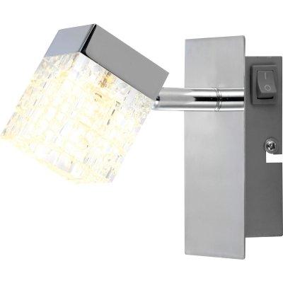 Светильник Globo 56193-1 AnkaraХай-тек<br><br><br>S освещ. до, м2: 3<br>Цветовая t, К: 3000K<br>Тип лампы: LED - светодиодная<br>Тип цоколя: LED<br>Количество ламп: 1<br>Ширина, мм: 70<br>MAX мощность ламп, Вт: 5<br>Длина, мм: 150<br>Расстояние от стены, мм: 150<br>Высота, мм: 130<br>Оттенок (цвет): белый<br>Цвет арматуры: серебристый