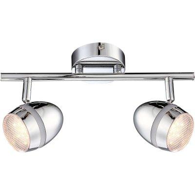 Светильник Globo 56206-2 ManjolaДвойные<br>Светильники-споты – это оригинальные изделия с современным дизайном. Они позволяют не ограничивать свою фантазию при выборе освещения для интерьера. Такие модели обеспечивают достаточно качественный свет. Благодаря компактным размерам Вы можете использовать несколько спотов для одного помещения.  Интернет-магазин «Светодом» предлагает необычный светильник-спот Globo 56206-2 по привлекательной цене. Эта модель станет отличным дополнением к люстре, выполненной в том же стиле. Перед оформлением заказа изучите характеристики изделия.  Купить светильник-спот Globo 56206-2 в нашем онлайн-магазине Вы можете либо с помощью формы на сайте, либо по указанным выше телефонам. Обратите внимание, что у нас склады не только в Москве и Екатеринбурге, но и других городах России.<br><br>Тип лампы: галогенная / LED-светодиодная<br>Тип цоколя: LED<br>Количество ламп: 2<br>Ширина, мм: 85<br>MAX мощность ламп, Вт: 3<br>Длина, мм: 300<br>Высота, мм: 162<br>Цвет арматуры: серебристый