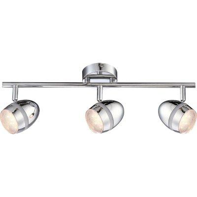Светильник Globo 56206-3 ManjolaТройные<br>Светильники-споты – это оригинальные изделия с современным дизайном. Они позволяют не ограничивать свою фантазию при выборе освещения для интерьера. Такие модели обеспечивают достаточно качественный свет. Благодаря компактным размерам Вы можете использовать несколько спотов для одного помещения.  Интернет-магазин «Светодом» предлагает необычный светильник-спот Globo 56206-3 по привлекательной цене. Эта модель станет отличным дополнением к люстре, выполненной в том же стиле. Перед оформлением заказа изучите характеристики изделия.  Купить светильник-спот Globo 56206-3 в нашем онлайн-магазине Вы можете либо с помощью формы на сайте, либо по указанным выше телефонам. Обратите внимание, что мы предлагаем доставку не только по Москве и Екатеринбургу, но и всем остальным российским городам.<br><br>Тип товара: Светильник поворотный спот<br>Скидка, %: 77<br>Тип лампы: галогенная / LED-светодиодная<br>Тип цоколя: LED<br>Количество ламп: 3<br>Ширина, мм: 85<br>MAX мощность ламп, Вт: 3<br>Длина, мм: 460<br>Высота, мм: 162<br>Цвет арматуры: серебристый