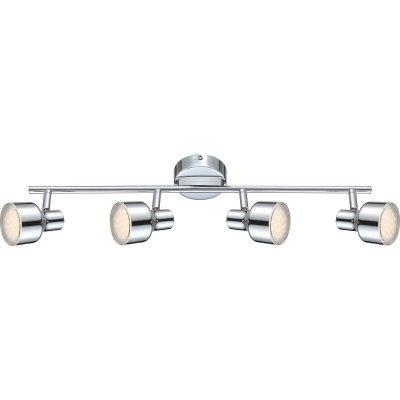 Светильник Globo 56213-4 RoisС 4 лампами<br>Светильники-споты – это оригинальные изделия с современным дизайном. Они позволяют не ограничивать свою фантазию при выборе освещения для интерьера. Такие модели обеспечивают достаточно качественный свет. Благодаря компактным размерам Вы можете использовать несколько спотов для одного помещения.  Интернет-магазин «Светодом» предлагает необычный светильник-спот Globo 56213-4 по привлекательной цене. Эта модель станет отличным дополнением к люстре, выполненной в том же стиле. Перед оформлением заказа изучите характеристики изделия.  Купить светильник-спот Globo 56213-4 в нашем онлайн-магазине Вы можете либо с помощью формы на сайте, либо по указанным выше телефонам. Обратите внимание, что мы предлагаем доставку не только по Москве и Екатеринбургу, но и всем остальным российским городам.<br><br>S освещ. до, м2: 1<br>Тип товара: Светильник поворотный спот<br>Скидка, %: 64<br>Тип лампы: галогенная / LED-светодиодная<br>Тип цоколя: LED<br>Количество ламп: 4<br>Ширина, мм: 120<br>MAX мощность ламп, Вт: 4<br>Длина, мм: 600<br>Высота, мм: 140<br>Цвет арматуры: серебристый