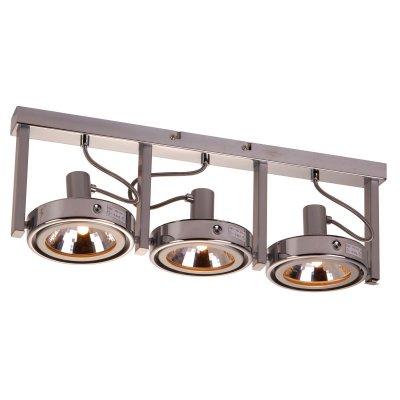 Светильник Globo 5645-3 KurianaТройные<br>Светильники-споты – это оригинальные изделия с современным дизайном. Они позволяют не ограничивать свою фантазию при выборе освещения для интерьера. Такие модели обеспечивают достаточно качественный свет. Благодаря компактным размерам Вы можете использовать несколько спотов для одного помещения.  Интернет-магазин «Светодом» предлагает необычный светильник-спот Globo 5645-3 по привлекательной цене. Эта модель станет отличным дополнением к люстре, выполненной в том же стиле. Перед оформлением заказа изучите характеристики изделия.  Купить светильник-спот Globo 5645-3 в нашем онлайн-магазине Вы можете либо с помощью формы на сайте, либо по указанным выше телефонам. Обратите внимание, что у нас склады не только в Москве и Екатеринбурге, но и других городах России.<br><br>S освещ. до, м2: 12<br>Тип лампы: галогенная / LED-светодиодная<br>Тип цоколя: G9<br>Количество ламп: 3<br>Ширина, мм: 135<br>MAX мощность ламп, Вт: 52<br>Длина, мм: 520<br>Высота, мм: 170<br>Цвет арматуры: серебристый