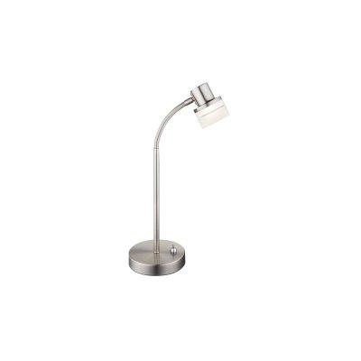 Настольная лампа Globo 56550-1tСовременные<br>Настольная лампа – это не просто источник дополнительного освещения, но и оригинальный элемент декора. Его можно установить в спальне, гостиной, кабинете и других комнатах. Интернет-магазин «Светодом» предлагает настольные лампы разных стилей по доступным ценам. Благодаря большому ассортименту Вы обязательно найдете в нашем каталоге именно ту модель, которую искали.   Настольная лампа Globo 56550-1T – прекрасный вариант для завершения интерьера. Ее можно включить одновременно с люстрой для более яркого освещения или без нее для создания уютной атмосферы, настраивающей на отдых.   Купить настольную лампу Globo 56550-1T Вы можете с помощью виртуальной «Корзины» или по контактным номерам, указанным на сайте.<br><br>Тип цоколя: LED<br>Цвет арматуры: серебристый никель<br>Количество ламп: 1<br>MAX мощность ламп, Вт: 3,5
