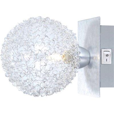Светильник бра с выкл Globo 5662-1 New DesignМодерн<br><br><br>S освещ. до, м2: 2<br>Тип товара: Светильник поворотный спот<br>Скидка, %: 73<br>Тип лампы: галогенная / LED-светодиодная<br>Тип цоколя: G9<br>Количество ламп: 1<br>Ширина, мм: 110<br>MAX мощность ламп, Вт: 33<br>Длина, мм: 110<br>Расстояние от стены, мм: 160<br>Высота, мм: 160<br>Цвет арматуры: серый