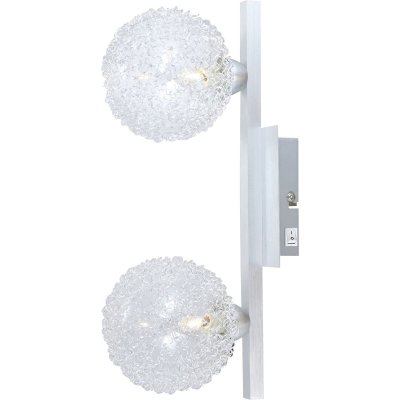 Светильник бра Globo 5662-2 New DesignСовременные<br><br><br>S освещ. до, м2: 5<br>Тип лампы: галогенная / LED-светодиодная<br>Тип цоколя: G9<br>Цвет арматуры: серый<br>Количество ламп: 2<br>Ширина, мм: 170<br>Длина, мм: 345<br>Высота, мм: 170<br>MAX мощность ламп, Вт: 33
