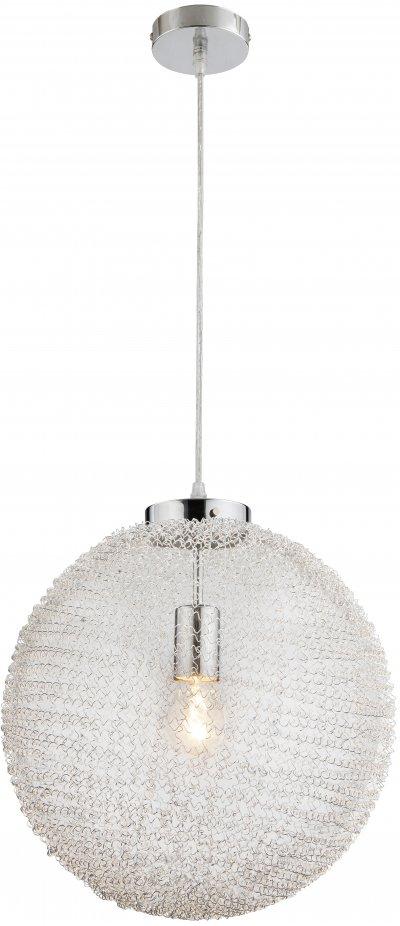 Светильник подвесной Globo 56624H1Ожидается<br><br><br>Тип цоколя: E27<br>Цвет арматуры: хром серебристый<br>Диаметр, мм мм: 350<br>Высота, мм: 1200
