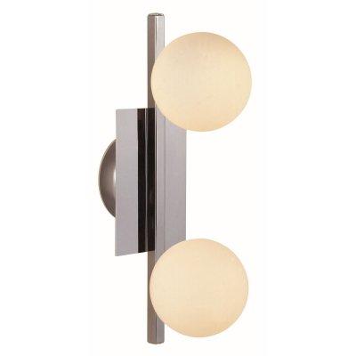Светильник Globo 5663-2 CardiffМодерн<br><br><br>S освещ. до, м2: 5<br>Тип лампы: галогенная / LED-светодиодная<br>Тип цоколя: G9<br>Количество ламп: 2<br>Ширина, мм: 160<br>MAX мощность ламп, Вт: 33<br>Длина, мм: 345<br>Расстояние от стены, мм: 160<br>Высота, мм: 160<br>Цвет арматуры: серебристый