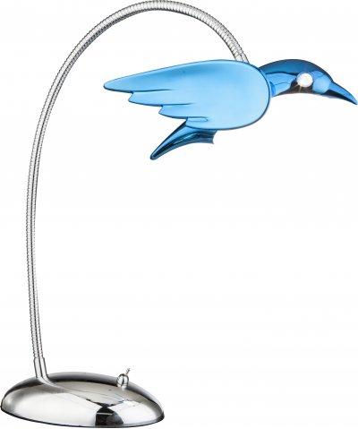 Настольная лампа Globo 56671-1TОжидается<br><br><br>Тип цоколя: LED<br>Цвет арматуры: голубой<br>Высота, мм: 350