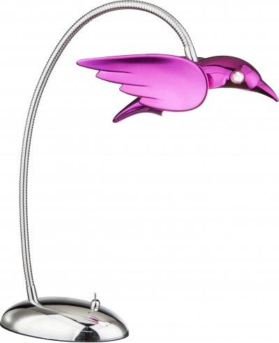 Настольная лампа Globo 56672-1TОжидается<br><br><br>Тип цоколя: LED<br>Цвет арматуры: фиолетовый<br>Высота, мм: 350