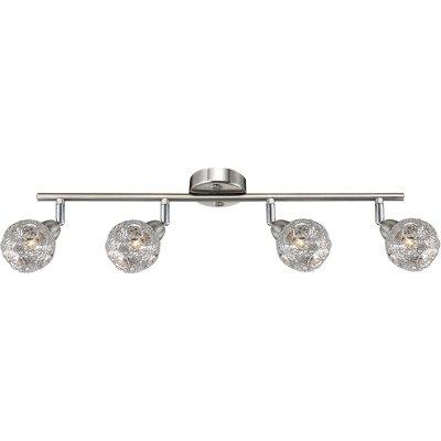 Светильник Globo 5669-4 SinclairС 4 лампами<br>Светильники-споты – это оригинальные изделия с современным дизайном. Они позволяют не ограничивать свою фантазию при выборе освещения для интерьера. Такие модели обеспечивают достаточно качественный свет. Благодаря компактным размерам Вы можете использовать несколько спотов для одного помещения.  Интернет-магазин «Светодом» предлагает необычный светильник-спот Globo 5669-4 по привлекательной цене. Эта модель станет отличным дополнением к люстре, выполненной в том же стиле. Перед оформлением заказа изучите характеристики изделия.  Купить светильник-спот Globo 5669-4 в нашем онлайн-магазине Вы можете либо с помощью формы на сайте, либо по указанным выше телефонам. Обратите внимание, что у нас склады не только в Москве и Екатеринбурге, но и других городах России.<br><br>S освещ. до, м2: 8<br>Тип лампы: галогенная / LED-светодиодная<br>Тип цоколя: G9<br>Цвет арматуры: серебристый<br>Количество ламп: 4<br>Длина, мм: 555<br>Расстояние от стены, мм: 165<br>Высота, мм: 165<br>Оттенок (цвет): белый<br>MAX мощность ламп, Вт: 33