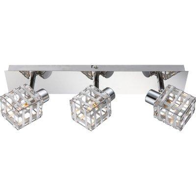 Светильник Globo 56691-3Современные<br><br><br>Тип цоколя: G9<br>Цвет арматуры: серебристый хром<br>Количество ламп: 3<br>Ширина, мм: 110<br>Длина, мм: 70<br>Высота, мм: 390<br>MAX мощность ламп, Вт: 33
