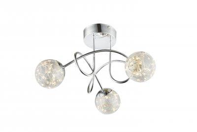 Люстра потолочная Globo 56804-3D XMASОжидается<br><br><br>Цветовая t, К: 3000<br>Тип цоколя: LED<br>Цвет арматуры: серебристый никель<br>Количество ламп: 3<br>Диаметр, мм мм: 380<br>Высота, мм: 260<br>MAX мощность ламп, Вт: 10,5