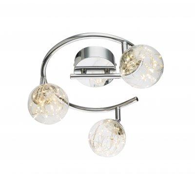 Спот Globo 56804-3 XMASОжидается<br><br><br>Цветовая t, К: 3000<br>Тип цоколя: LED<br>Цвет арматуры: серебристый никель<br>Количество ламп: 3<br>Диаметр, мм мм: 250<br>Высота, мм: 195<br>MAX мощность ламп, Вт: 10,5