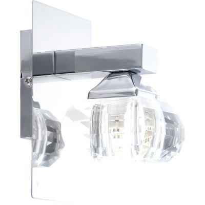 Светильник бра Globo 5692-1W CubusСовременные<br><br><br>S освещ. до, м2: 2<br>Тип лампы: галогенная / LED-светодиодная<br>Тип цоколя: G9<br>Количество ламп: 1<br>Ширина, мм: 100<br>MAX мощность ламп, Вт: 33<br>Длина, мм: 120<br>Высота, мм: 150<br>Цвет арматуры: серебристый