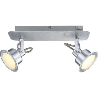 Светильник Globo 56954-2 LindseyДвойные<br>Светильники-споты – это оригинальные изделия с современным дизайном. Они позволяют не ограничивать свою фантазию при выборе освещения для интерьера. Такие модели обеспечивают достаточно качественный свет. Благодаря компактным размерам Вы можете использовать несколько спотов для одного помещения.  Интернет-магазин «Светодом» предлагает необычный светильник-спот Globo 56954-2 по привлекательной цене. Эта модель станет отличным дополнением к люстре, выполненной в том же стиле. Перед оформлением заказа изучите характеристики изделия.  Купить светильник-спот Globo 56954-2 в нашем онлайн-магазине Вы можете либо с помощью формы на сайте, либо по указанным выше телефонам. Обратите внимание, что у нас склады не только в Москве и Екатеринбурге, но и других городах России.<br><br>Цветовая t, К: 3000<br>Тип лампы: накаливания / энергосберегающая / светодиодная<br>Тип цоколя: LED<br>Количество ламп: 2<br>Ширина, мм: 165<br>MAX мощность ламп, Вт: 5<br>Длина, мм: 80<br>Высота, мм: 320<br>Поверхность арматуры: матовый<br>Цвет арматуры: серый<br>Общая мощность, Вт: 10